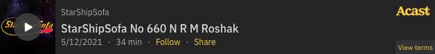 "Listen to ""The Zest for Life"" on StarShipSofa"